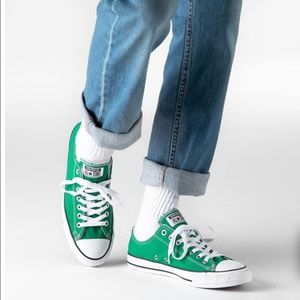 Converse All Star Ox Green and White Sneakers 7